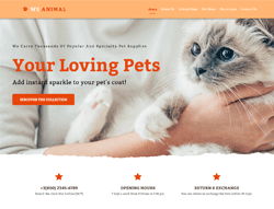 Pet Store WordPress Theme - WS Animal