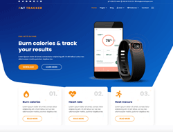 App Joomla Template - AT Tracker