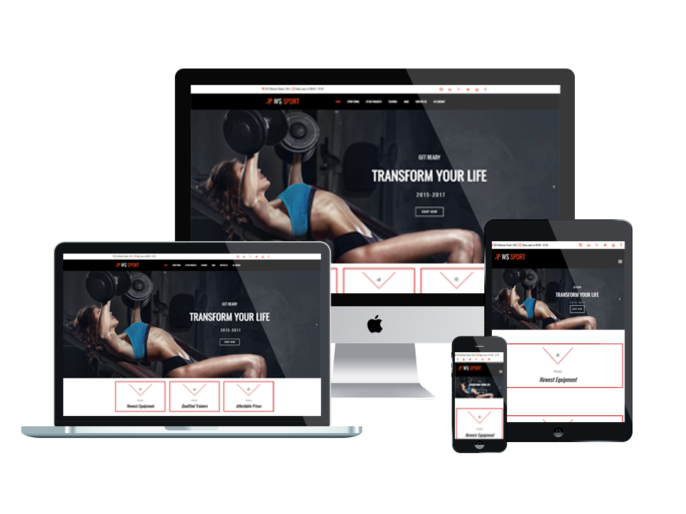 Fitness Equipment WooCommerce  Wordpress mobile theme