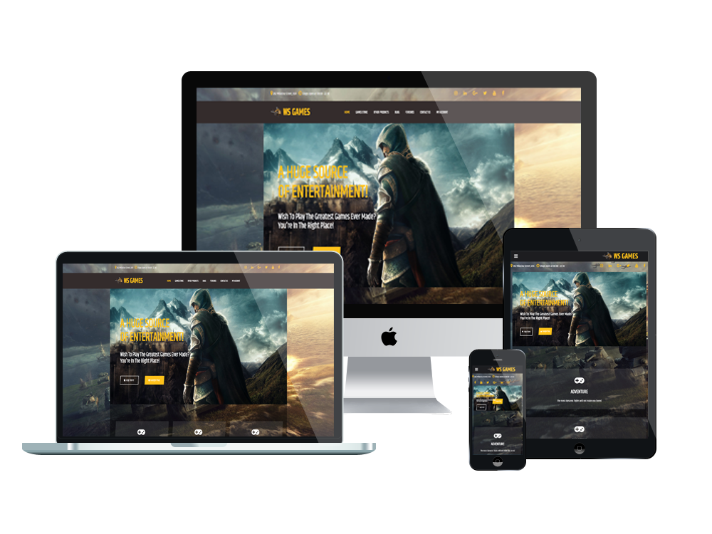 Games Wordpress mobile theme