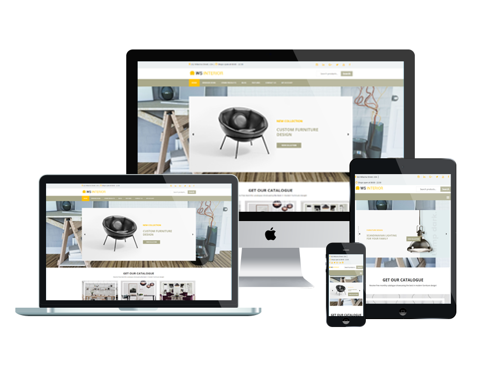 Interior Design WooCommerce  Wordpress mobile theme