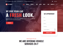 Auto Care Joomla Template - JD ServX
