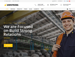 Industrial WordPress Theme - ArmStrong