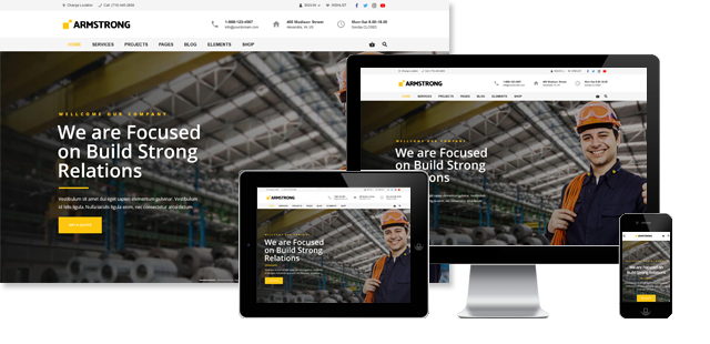 ArmStrong - Industrial WordPress Theme