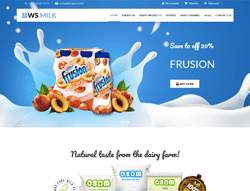 Dairy WooCommerce WordPress Theme - WS Milk