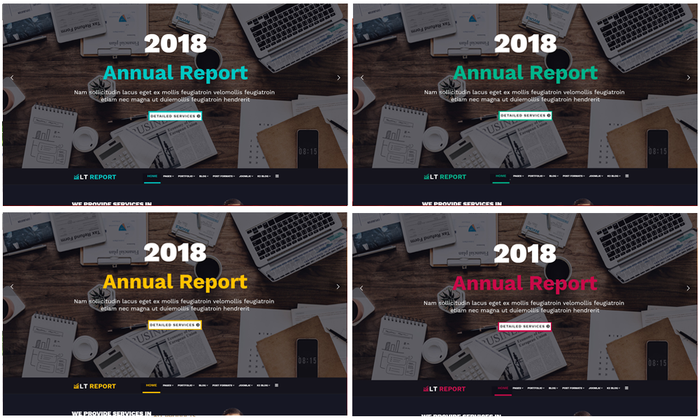 Financial WooCommerce  Wordpress color layouts