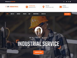 Industrial WordPress Theme - ET Industrial