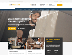 Logistic WordPress Theme - ET Transport