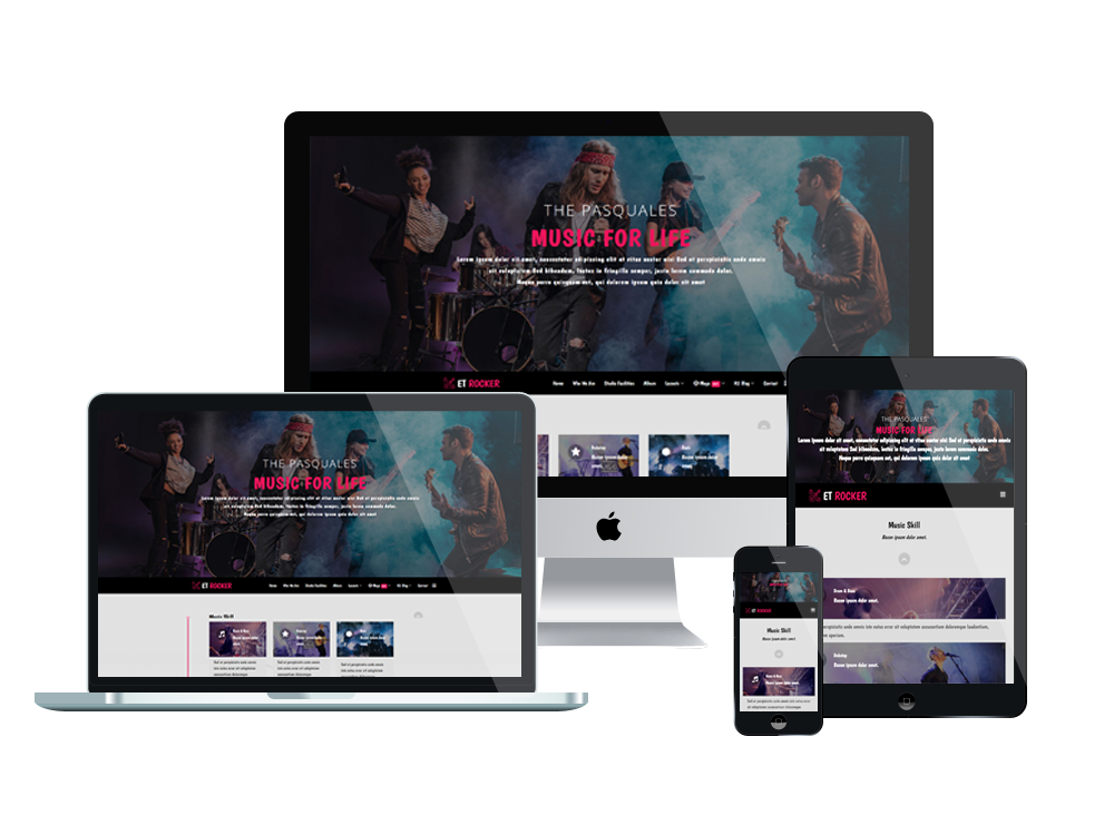 Misic Joomla Template Layout