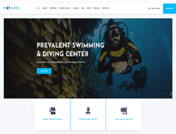 Scuba Diving Joomla Template - ET Dive
