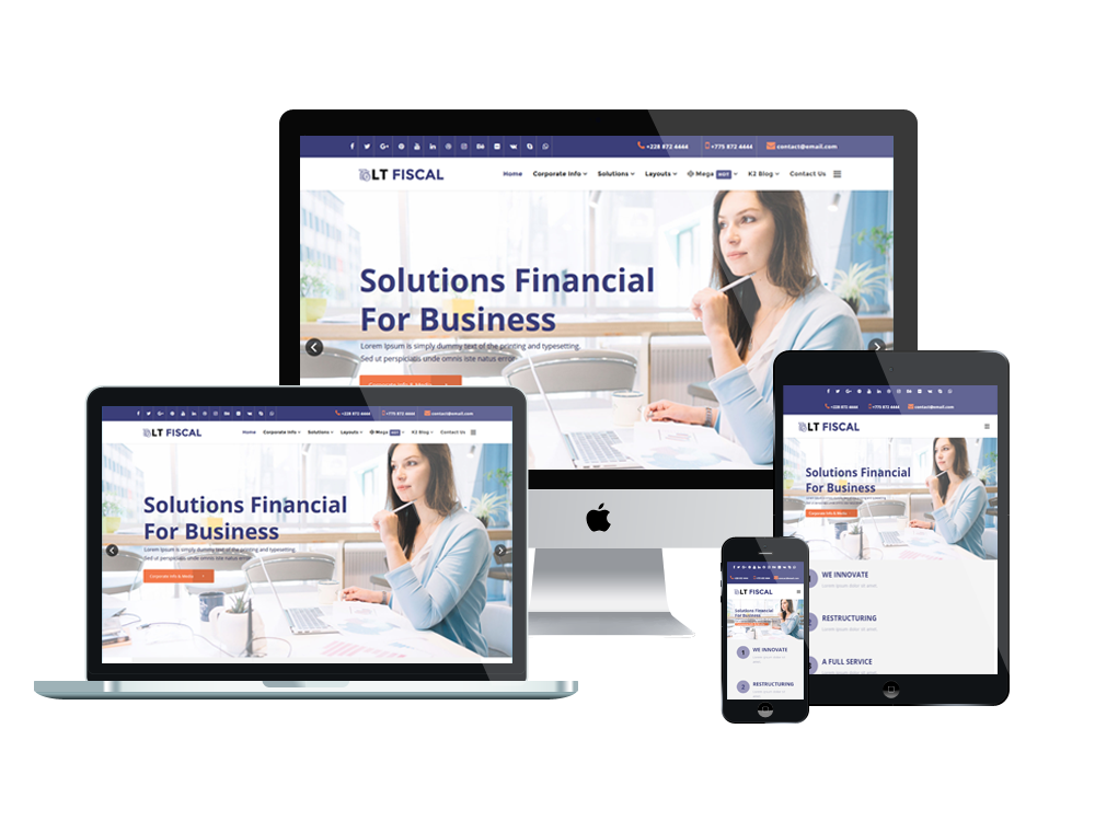 Finance Joomla Template Layout