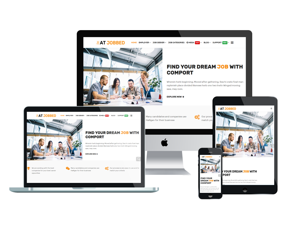 Job Agency Joomla Template Layout