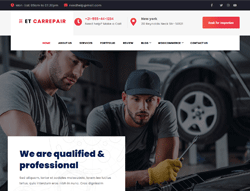 Garage Shop WordPress Theme - ET Car Repair