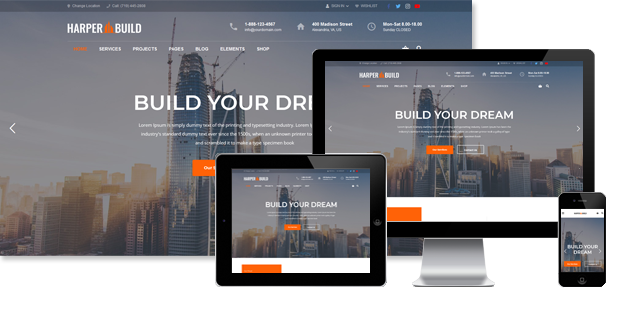 Harper - Construction WordPress Theme