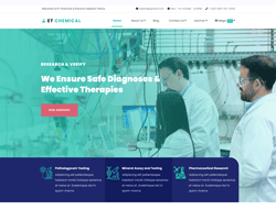 Science WordPress Theme - ET Chemical