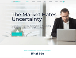 Financial WordPress Theme - ET Investment