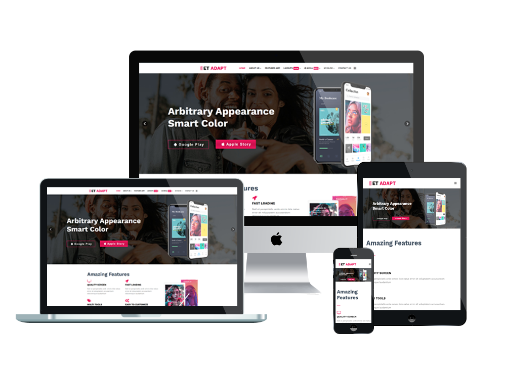 App Showcase Shop WooCommerce  Wordpress mobile theme