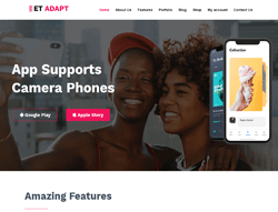 App Showcase WordPress Theme - ET Adapt