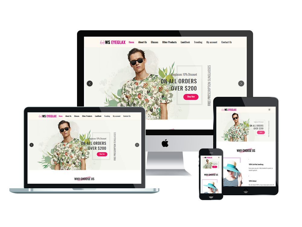 Eyeglax WooCommerce  Wordpress mobile theme