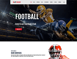 Sport Joomla Template - AT Rugby