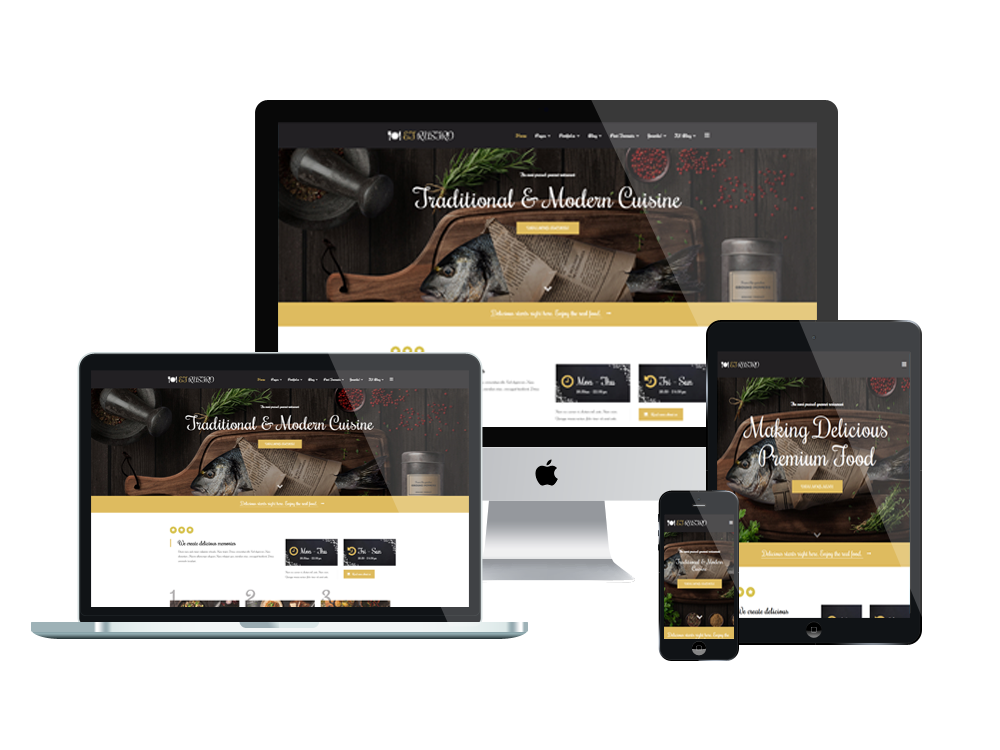 Restaurant WooCommerce  Wordpress mobile theme