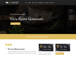 Restaurant WordPress Theme - ET Rustro