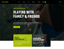 Sport WordPress Theme - ET Tennis