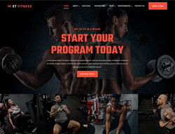 Gym WordPress theme - ET Fitness