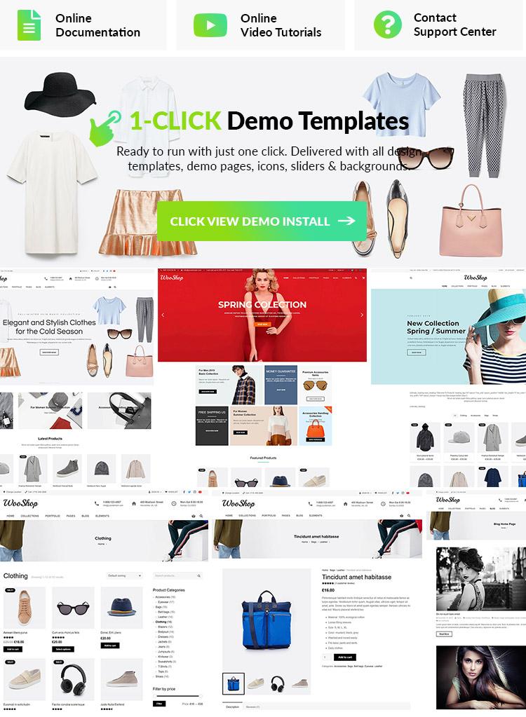 Fashion WordPress Theme Features