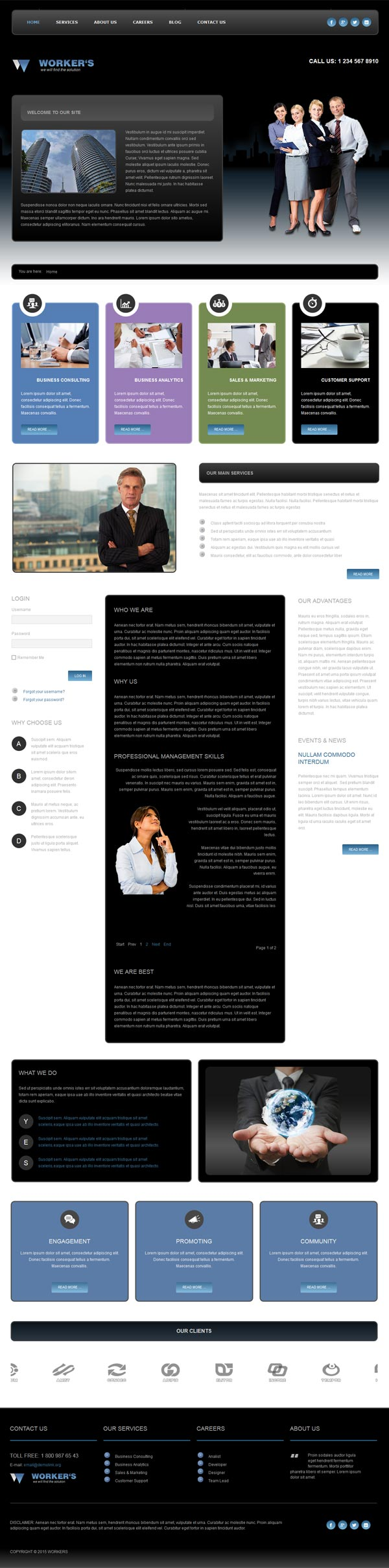 Business Joomla! template