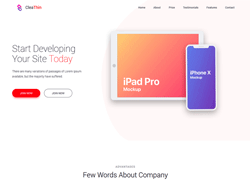 Multipurpose Bootstrap 4 HTML Template - Clea Thin 2