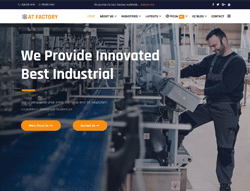 Industrial joomla template - AT Factory