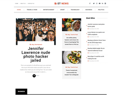 News Portal WordPress theme - ET News