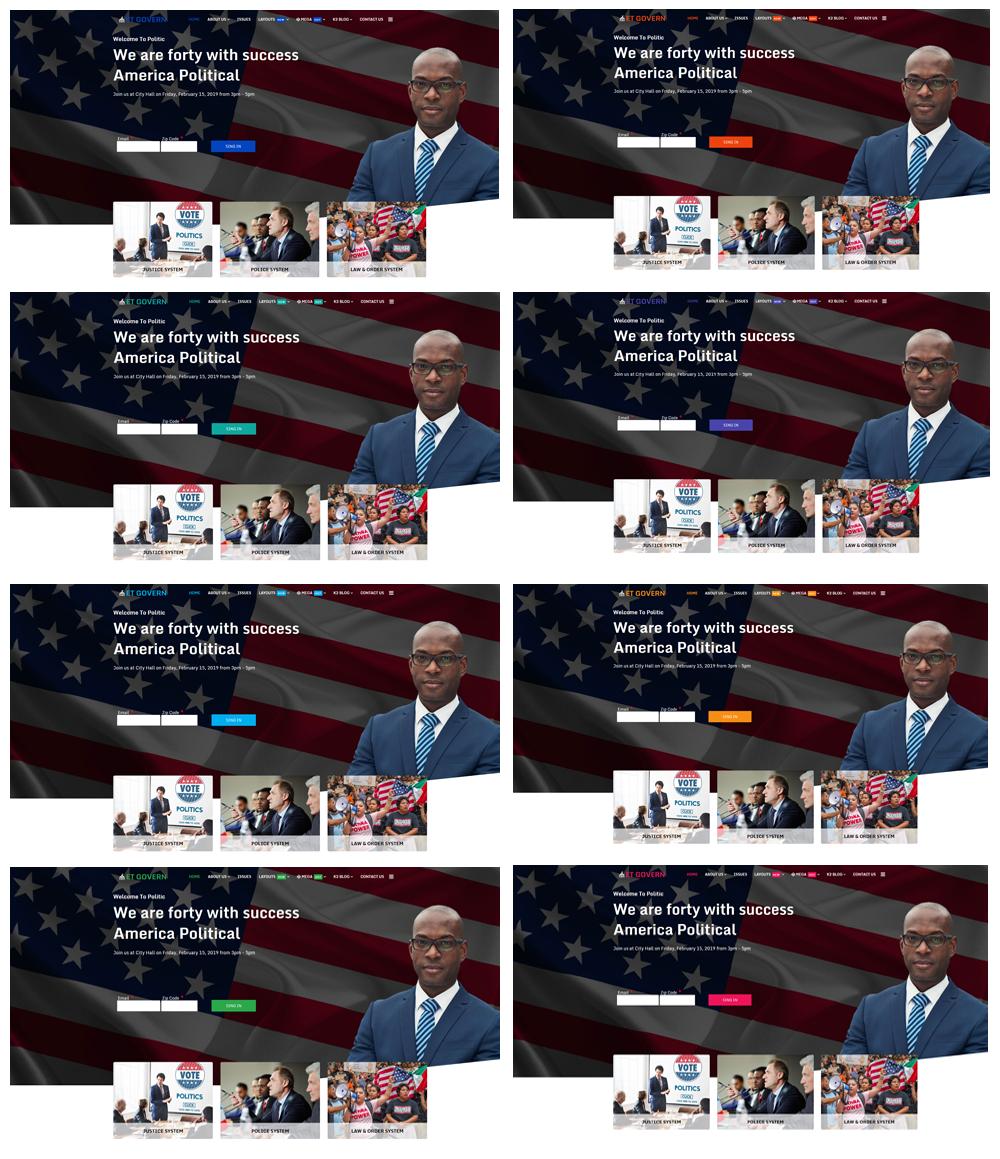 Political Joomla Template Color Styles