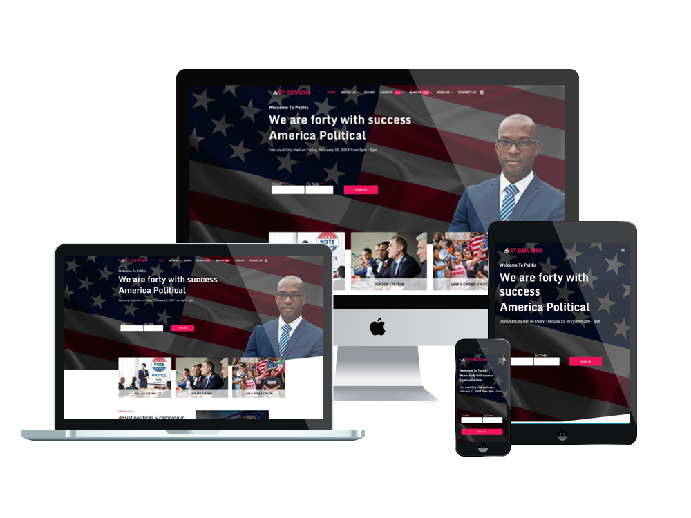 Political Joomla Template Layout