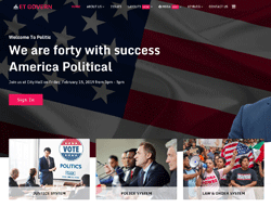 Political Joomla Template - ET Govern