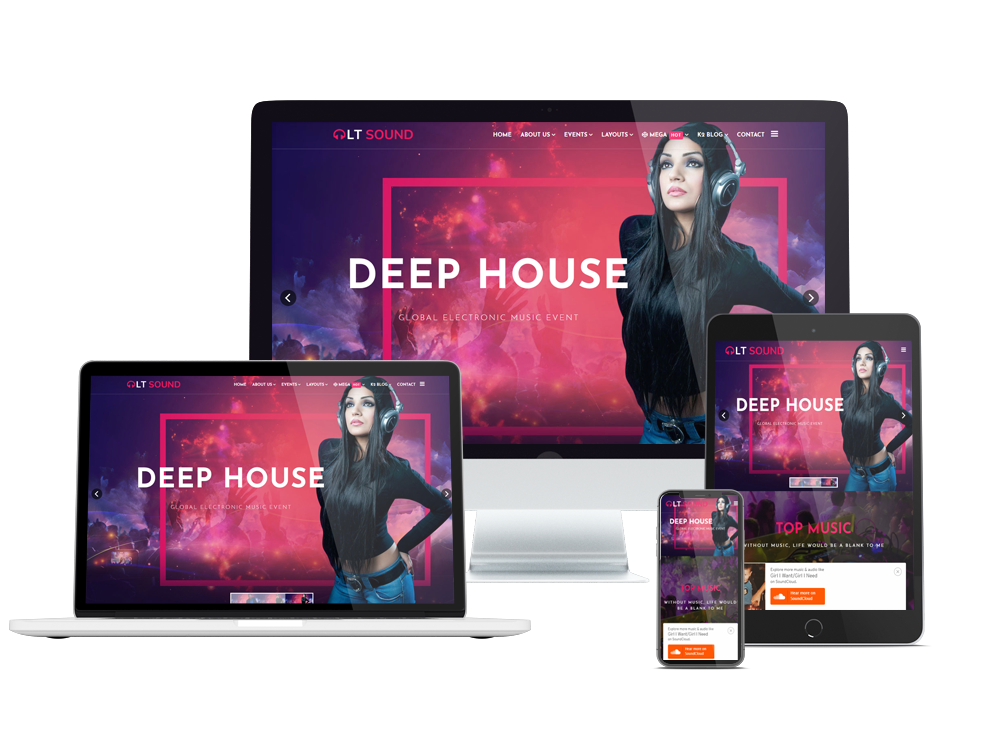 Music Joomla Template Layout