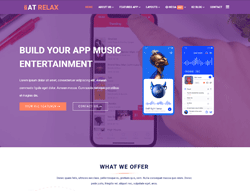 App Joomla Template - AT Relax