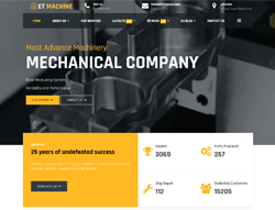 Industrial Joomla Template - ET Machine