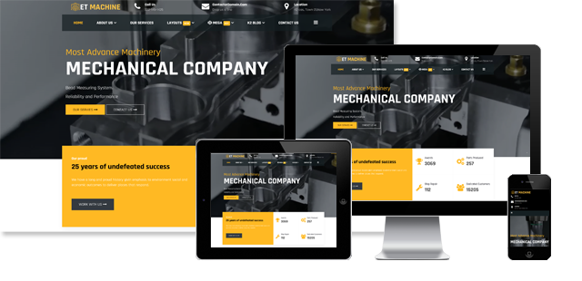 ET Machine - Industrial Joomla Template