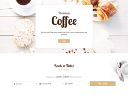 Restaurant Joomla Template - JD Cafe