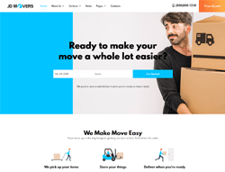 Packers and Movers Joomla Template - JD Movers
