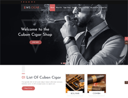 Cigar Shop WordPress theme - WS Cigar