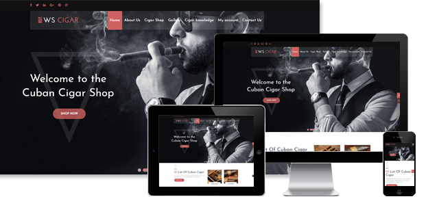 WS Cigar - Cigar Shop WordPress theme