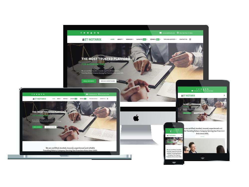 Notary Wordpress mobile theme
