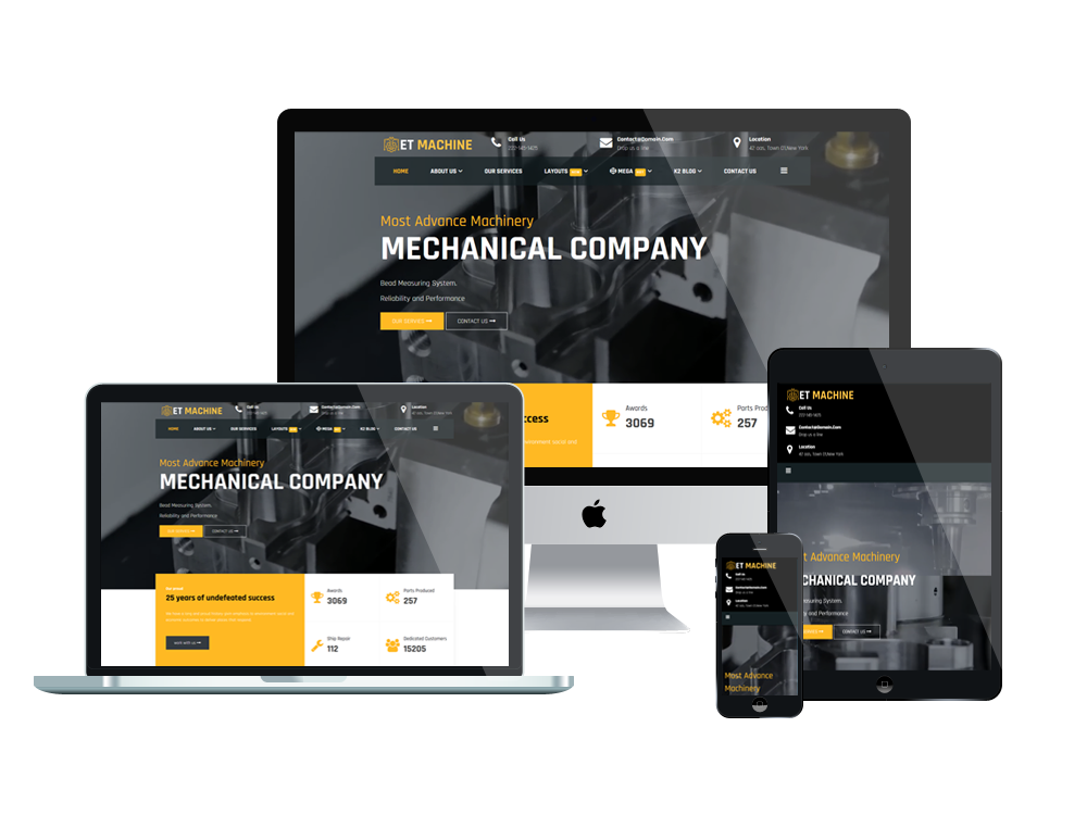 Industrial Wordpress mobile theme