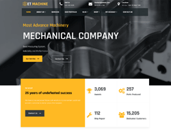 Industrial WordPress theme - ET Machine
