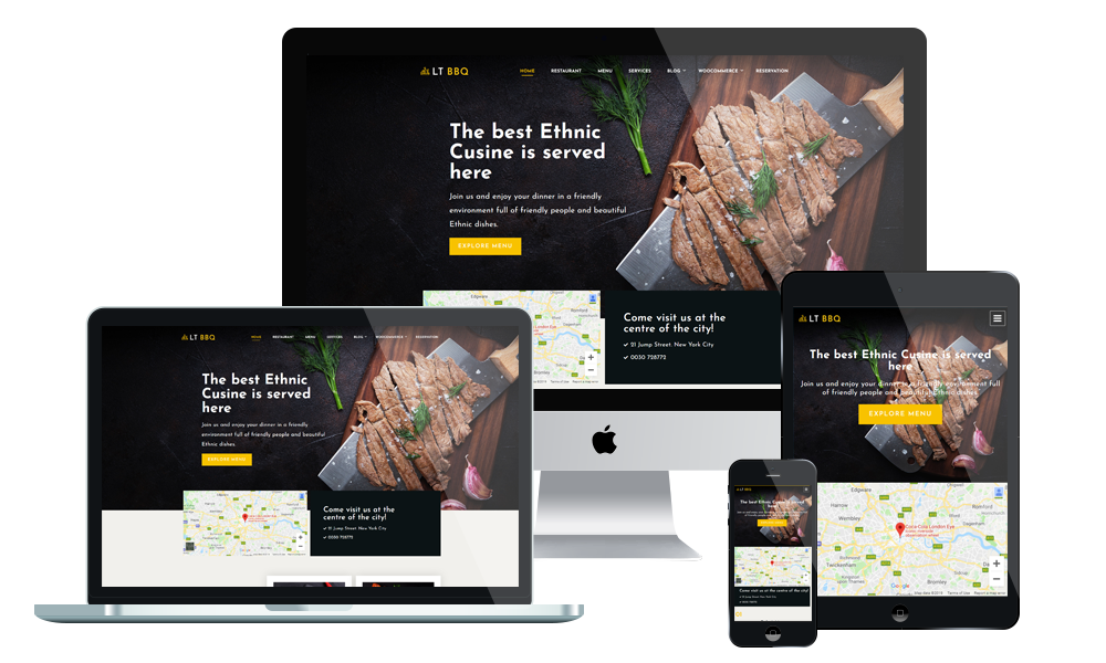 LT BBQ - BBQ WordPress Theme