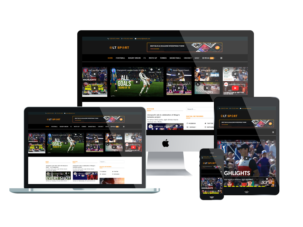 Sport News Joomla Template Layout