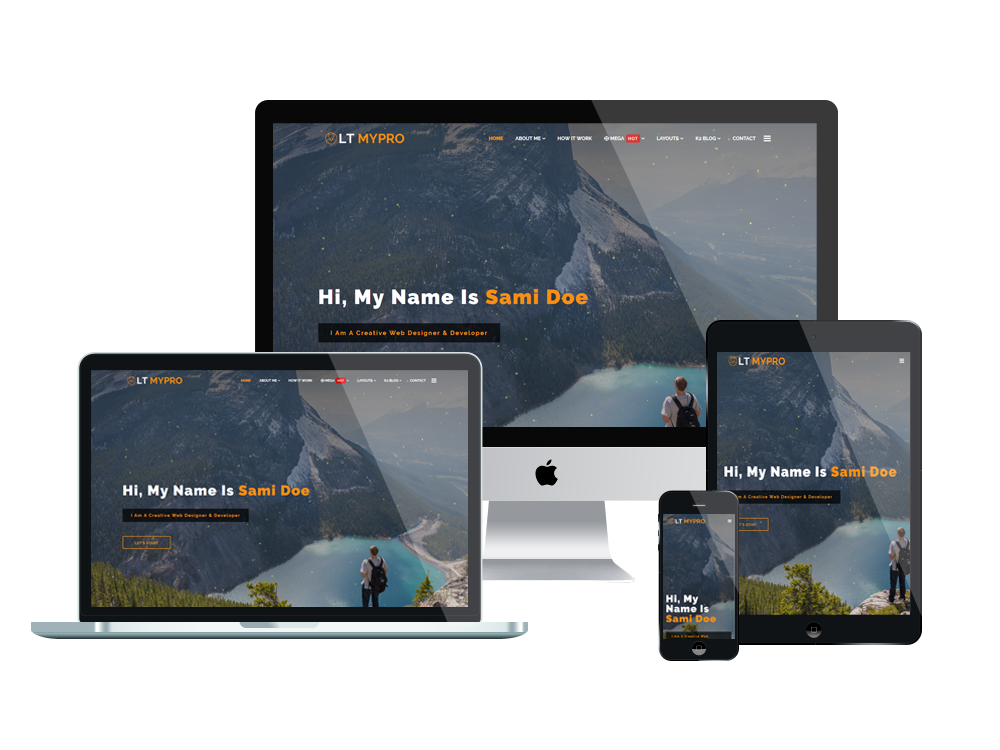 Profile Joomla Template Layout